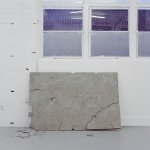 Littlewhitehead, Slab, 2013, cement, steel poles, steel mesh