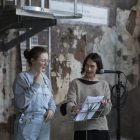 Hannah Regel with Amy Helena, At Practise 2, 14th August 2021, David Dale Gallery. Documentation by Isobel Lutz-Smith
