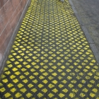 Mark King, Wayfinding, 2014, Chalk spray paint on pavement