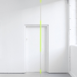 Chadwick Rantanen, Telescopic Pole [PCTB / Flourescent Yellow / 01], 2012, powder coated aluminium with matte finish, plastic, walkerballs