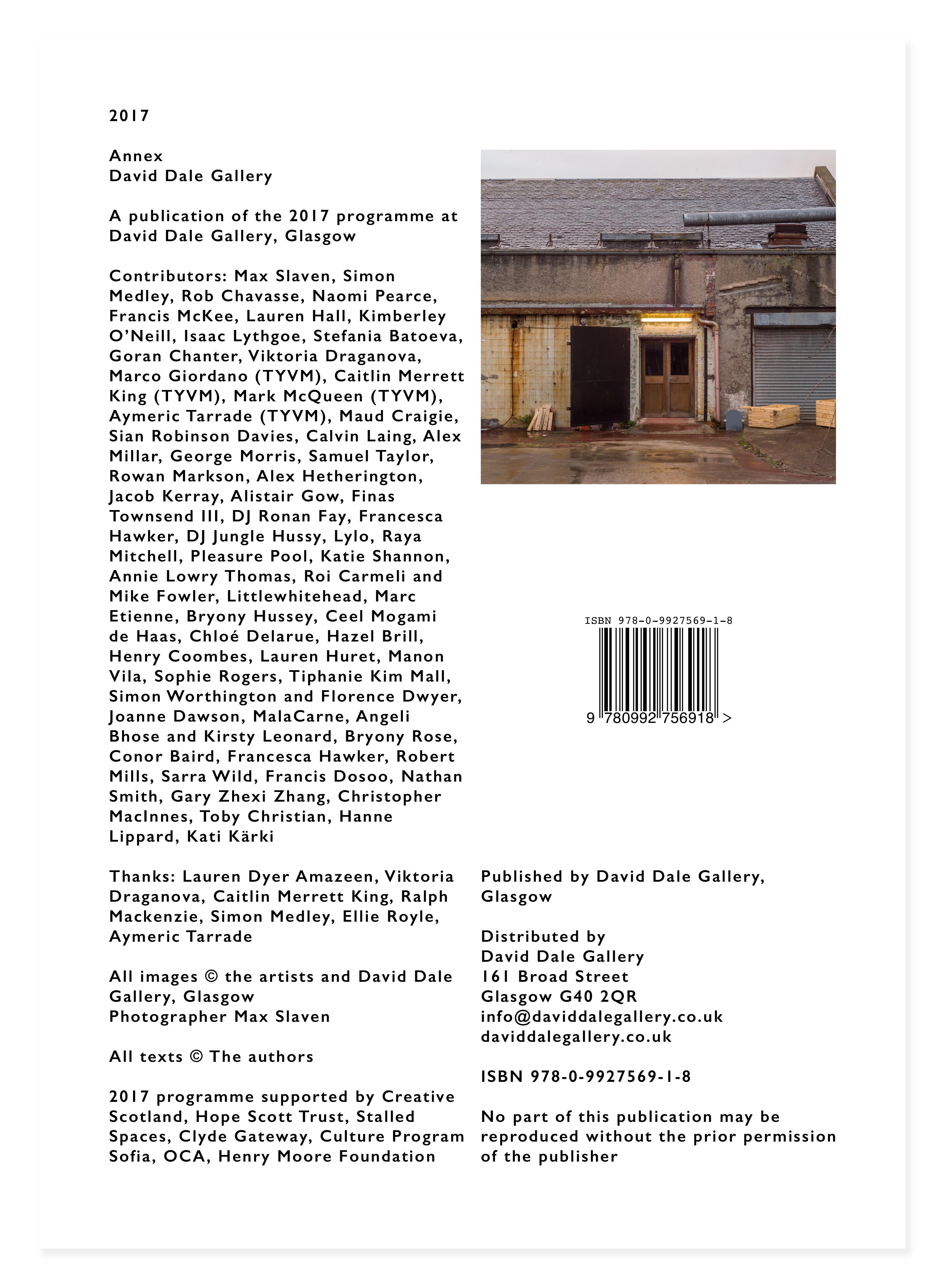 Annex 2017 cover