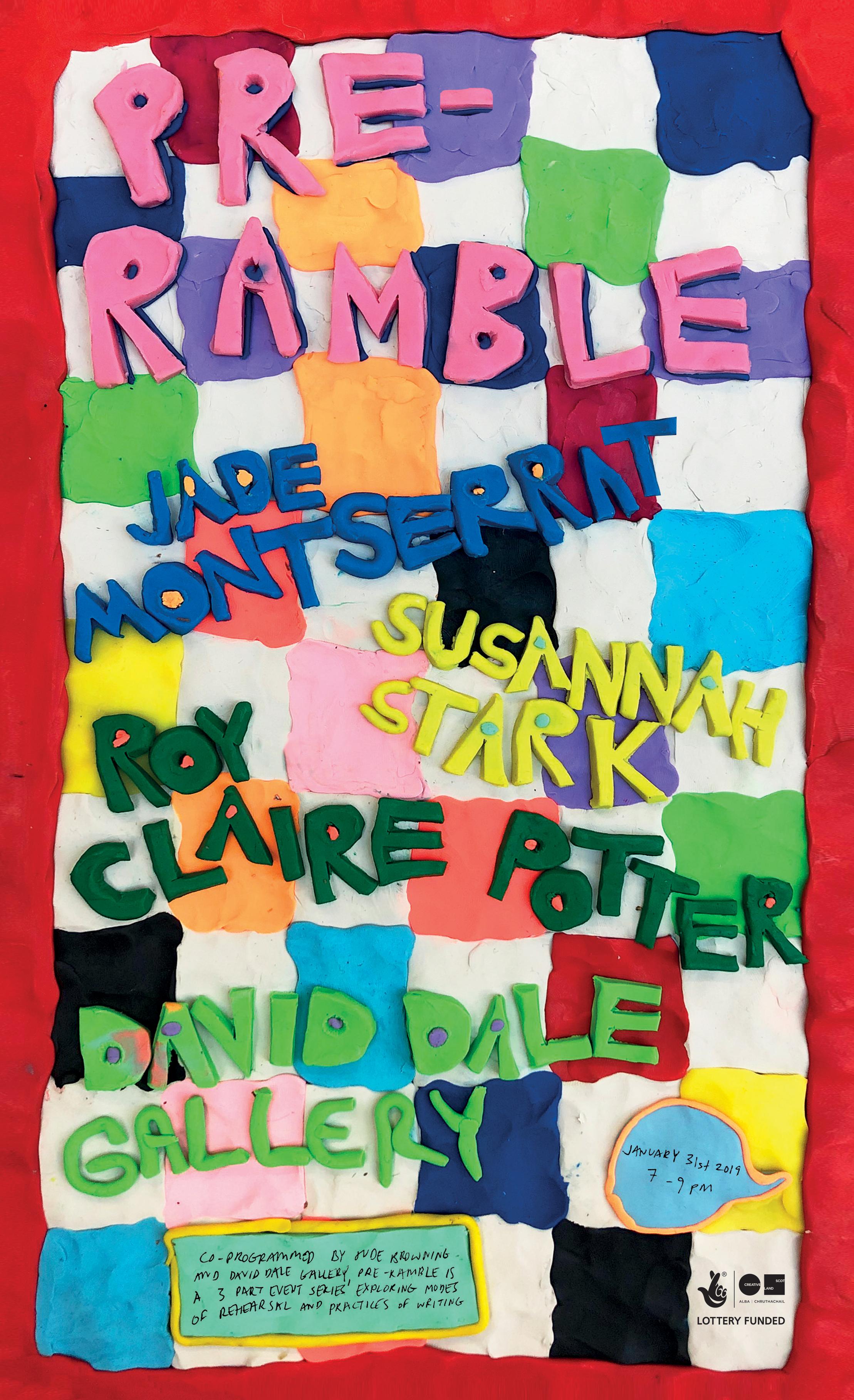 Pre-Ramble - black logo